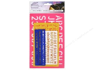 scrapbooking & paper crafts: Darice Tool Box Stencil Set Letter Combo 4 pc