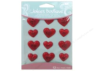 EK Jolee's Boutique Cabochons Red Hearts