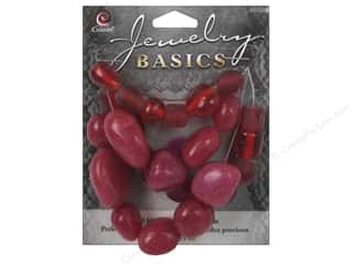 Cousin Basics Gemstone and Glass Beads 1.55 oz. Red
