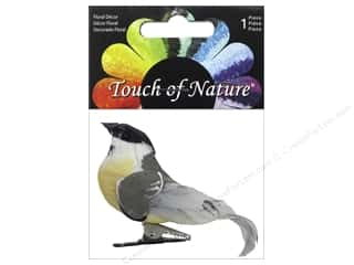 floral & garden: Midwest Design Artificial Birds 3 1/4 in. Feather Chickadee 1 pc.