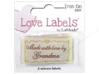 sewing & quilting: Blumenthal Iron-On Lovelabels 4 pc. Made with Love by Grandma