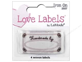 sewing & quilting: Blumenthal Iron-On Lovelabels 4 pc. Handmade By
