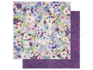 Spring Printed Cardstock: Bo Bunny 12 x 12 in. Paper Secret Garden Collection Roses (25 sheets)