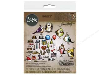 die cuts: Sizzix Framelits Die Set 51 pc. Mini Bird Crazy & Things