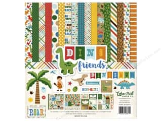 Clearance Echo Park Collection Kit: Echo Park 12 x 12 in. Collection Kit Dino Friends