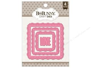 die cutting machines: Bo Bunny Craft Dies 4 pc. Love Squared