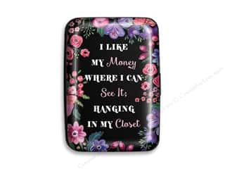 Lady Jayne Credit Card Case Black Floral Money