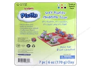 Sculpey Pluffy Clay Polyform Multipack Tropical