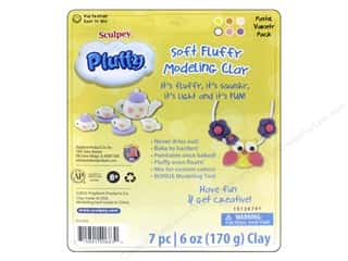 Sculpey Pluffy Clay Polyform Multipack Pastel