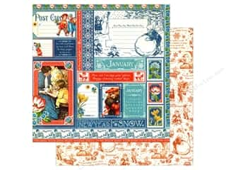 Graphic 45 12 x 12 in. Paper Children's Hour January Collective (25 sheets)