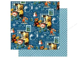 Graphic 45 12 x 12 in. Paper Children's Hour January Montage (25 sheets)