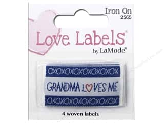 Blumenthal Iron-On Lovelabels 4 pc. Grandma Loves Me