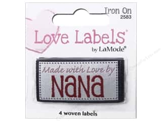 Blumenthal Iron-On Lovelabels 4 pc. Made With Love By Nana