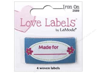 Blumenthal Iron-On Lovelabels 4 pc. Made For