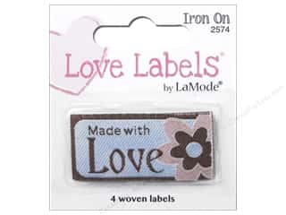 Blumenthal Iron-On Lovelabels 4 pc. Made With Love with Flower