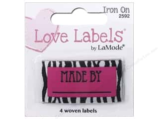 Blumenthal Iron-On Lovelabels 4 pc. Made By Zebra