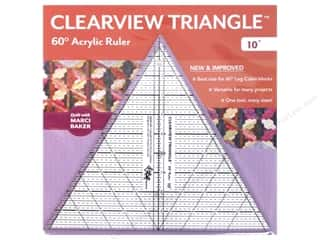 60 degree triangle ruler: C&T Publishing Notions Clearview Triangle Ruler 10 in. 60 Degree