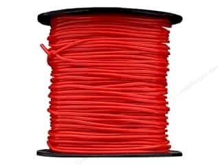 Clearance Pepperell Silkies Bands: Pepperell Vinyl Craft Lace S'getti String 50yd Spool Red