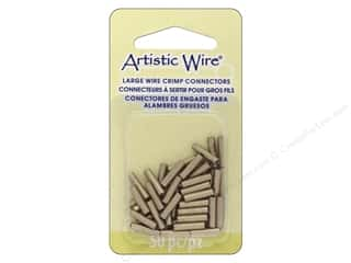 beading & jewelry making supplies: Artistic Wire Large Wire Crimp Tube 14 ga. Brass 50 pc.