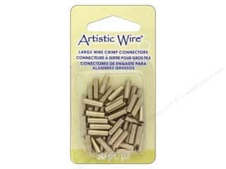 beading & jewelry making supplies: Artistic Wire Large Wire Crimp Tube 12 ga. Brass 50 pc.
