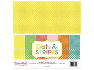 Clearance Echo Park Collection Kit: Echo Park 12 x 12 in. Collection Kit Dots & Stripes Summer