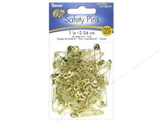 safety pin: Darice Jewelry Designer Safety Pins 1 in. Gold 120 pc.