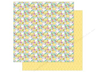 Spring Printed Cardstock: Doodlebug Paper 12 x 12 in. Bunnyville Bunny & Co (25 sheets)