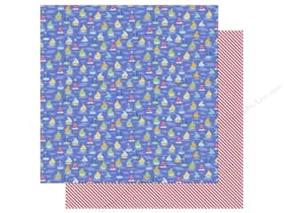 Cardstock: Doodlebug 12 x 12 in. Paper Anchors Aweigh Ships Ahoy (25 sheets)
