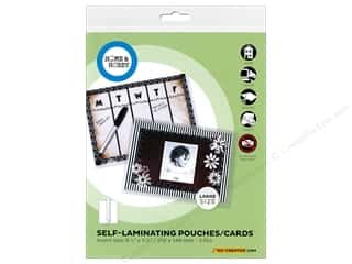 scrapbooking & paper crafts: 3L Home & Hobby Self Laminating Pouch 8 1/4 x 5 3/4 in. 3 pc.