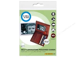 craft & hobbies: 3L Home & Hobby Self Laminating Pouch 1 3/4 x 3 in. 5 pc.