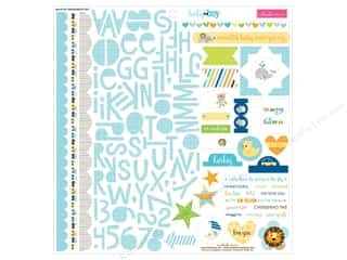 Bella Blvd Stickers Cute Baby Boy Treasures & Text (12 sheets)