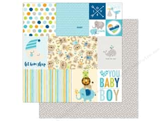 Bella Blvd 12 x 12 in. Paper Cute Baby Boy Daily Details (25 sheets)