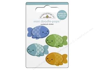 Doodlebug Doodle-Pops 3-D Stickers Anchors Aweigh Mini Minnows