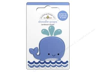 Doodlebug Doodle-Pops 3-D Stickers Anchors Aweigh Wally Whale