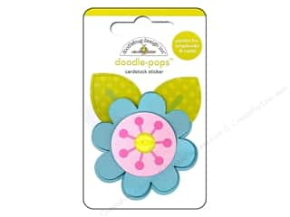 Spring Stickers: Doodlebug Doodle-Pops 3-D Stickers Spring Garden Spring Flower
