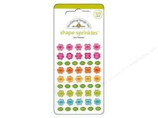 Spring Stickers: Doodlebug Sprinkles Stickers Spring Garden Tiny Flower Shapes