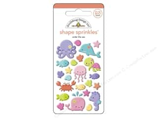 Doodlebug Sprinkles Stickers Under The Sea Shapes