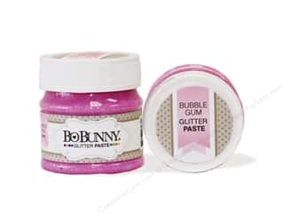 craft & hobbies: Bo Bunny Glitter Paste 1.69 oz. Bubble Gum