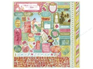 theme stickers: Authentique Stickers Utopia Details (12 pieces)