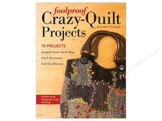 Foolproof Crazy Quilt Projects Book by Jennifer Clouston
