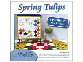 Spring Patterns: Pieced Tree Spring Tulips 3 in 1 Pattern