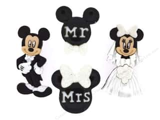 craft & hobbies: Jesse James Dress It Up Embellishments Mickey and Minnie Wedding