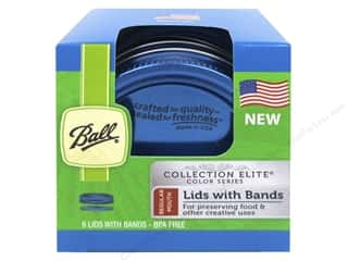 Ball Mason Jar Lids with Bands 6 pc. Regular Mouth Blue