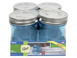Ball Mason Jars 8 oz. Half Pint Regular Mouth 4 pc. Blue