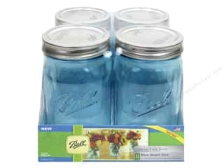 Ball Mason Jars 32 oz. Quart Wide Mouth 4 pc. Blue