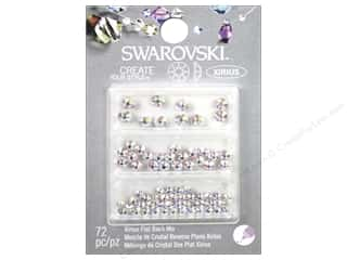beading & jewelry making supplies: Cousin Swarovski Flatback Rhinestone Mix 72 pc. Aurora Borealis