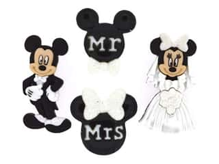 novelties: Jesse James Embellishments - Disney Mickey and Minnie Wedding