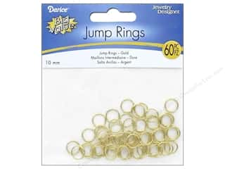 Darice Jewelry Designer Jump Rings 3/8 in. Gold Plate Brass 60 pc.