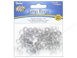 Darice Jewelry Designer Jump Rings 3/16, 1/4, 3/8 in. Nickel 240 pc.