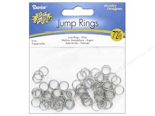 Darice Jewelry Designer Jump Rings 3/8 in. Nickel Plate Brass 72 pc.